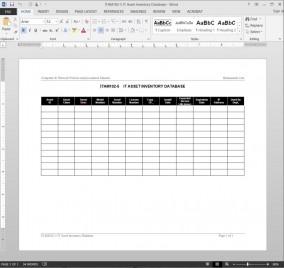ITAM102-5 IT Asset Inventory Database Log Template