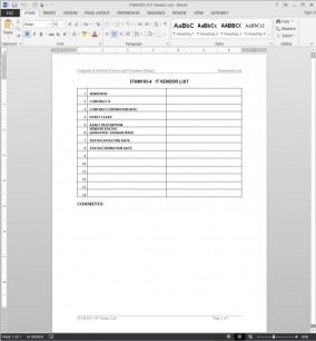 ITAM103-4 IT Approved Vendor List Template