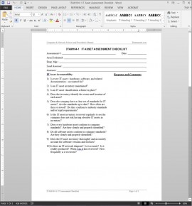ITAM104-1 IT Asset Assessment Checklist Template