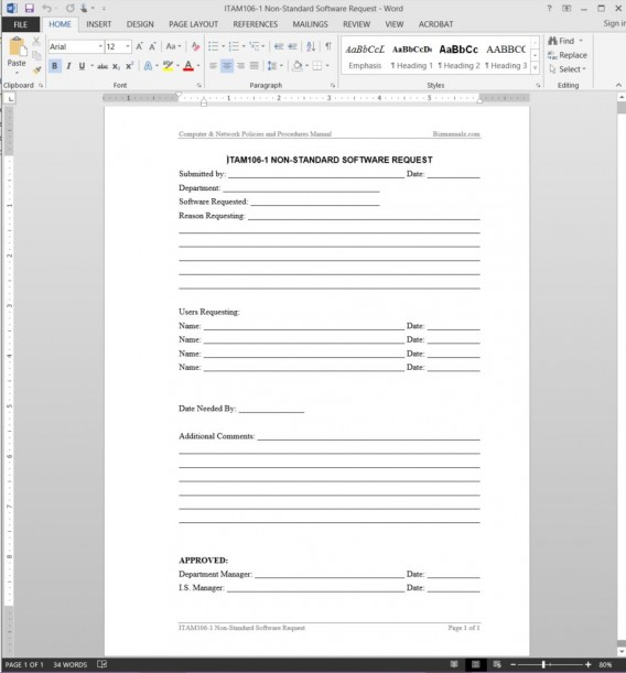 accounting policies and procedures manual template