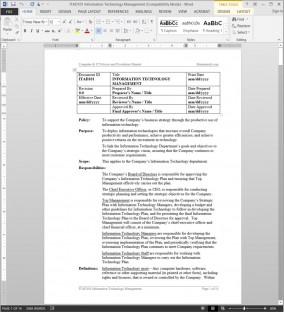 ITAD101 Information Technology Management Procedure