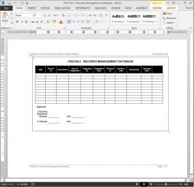 ITAD102-2 IT Records Management Log Template