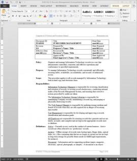 ITAD102 IT Records Management Procedure