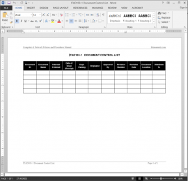 ITAD103-1 IT Document Control List Template