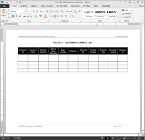 ITAD103-1 IT Document Control List Template