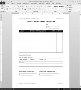 ITAD103-3 IT Document Change Control Request Template