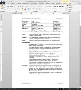 ITAD108 E-Mail Policy Procedure