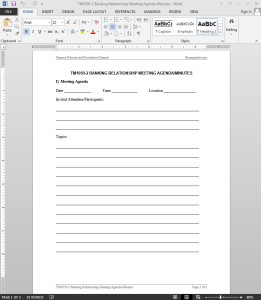 Banking Relationship Meeting Minutes Template
