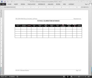 fsms calibration database template. Black Bedroom Furniture Sets. Home Design Ideas
