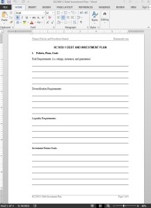 Debt-Investment Plan Template