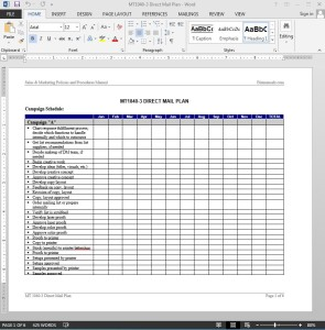 Direct Mail Plan Template