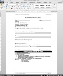 Financial Document Request Template