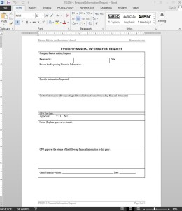 Financial Information Request Template