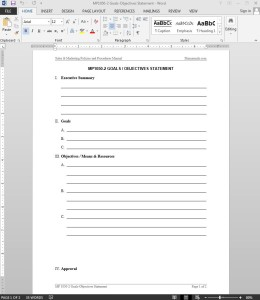 Goals-Objectives Statement Template