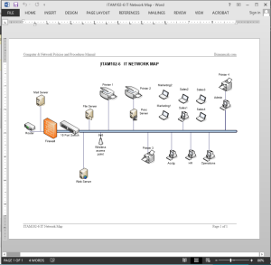 IT Network Map Report Template