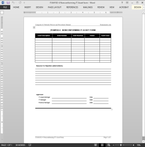 Nonconforming IT Asset Report Template