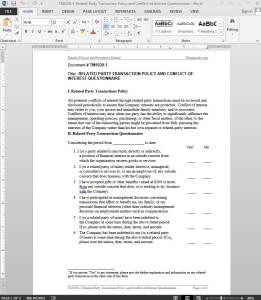Related-Party Transaction Conflict-of-Interest Questionnaire Template