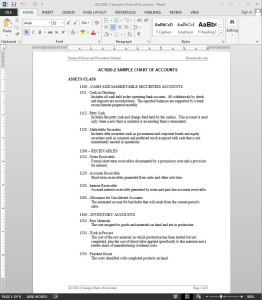 Chart Of Accounts Guide Template