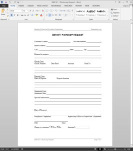 Photocopy Request Template