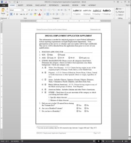 HRG103-2 Supplement to Employment Application Template
