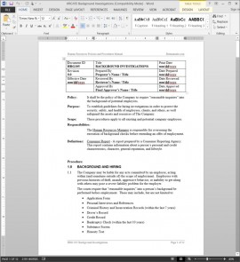 HRG105 Background Investigations Procedure