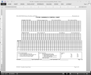 FSMS Variables Control Chart Template