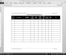 FSMS Approved Vendor List Template | FDS1100-1 Bizmanualz 1