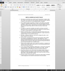 CMP101-4 Workplace Safety Rules Guide Template