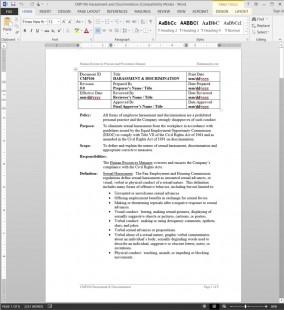 CMP106 Harassment Discrimination Procedure