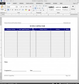 RC1010-3 Capital Plan Template