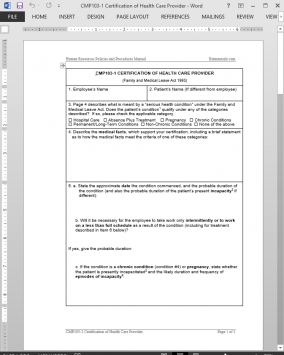 CMP103-1 Health Care Provider Certification Approval Template | CMP103-1 Bizmanualz 1