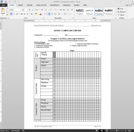 Competency Matrix Template | AD1050-1 Bizmanualz 1