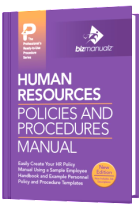 hr policy and procedure manual template