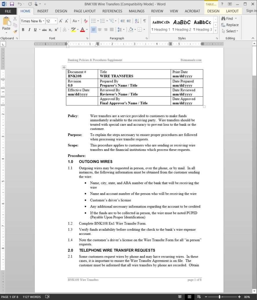 Bank Wire Transfer | Wire Transfer Procedure