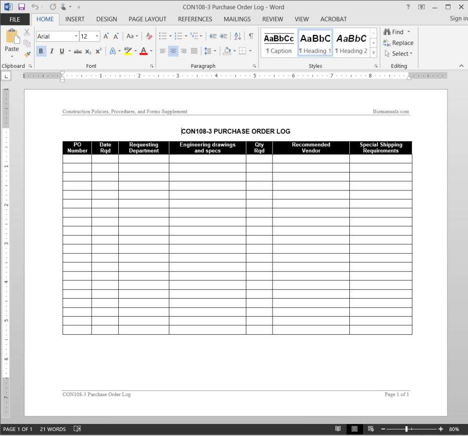 Purchase Order Log Template Excel. Project Purchase Order Log Template . Purchase  Order Log Template Excel  Excel Po Template