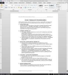 FDS1050-1 Prerequisite Program Example