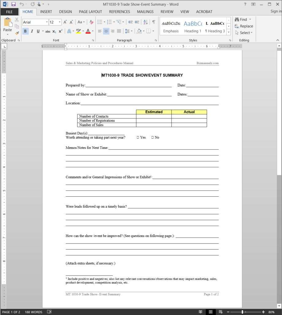 Add To Wishlist  Event Summary Report Template
