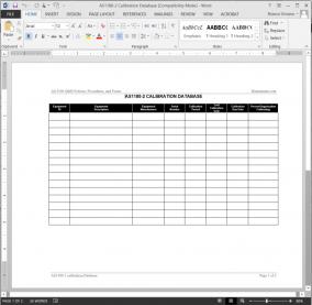 AS1180-2 Calibration Database