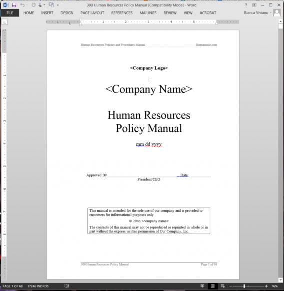 sample policies and procedures manual for nonprofit organizations