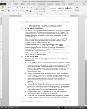 ITSD109-1 BYOD Policy & Acknowledgement Template