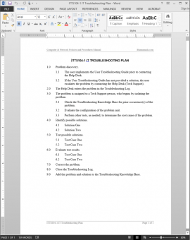 ITTS104-1 IT Troubleshooting Plan Template