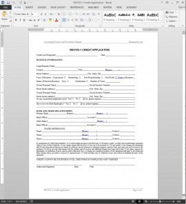 Credit Application Template REV103-1