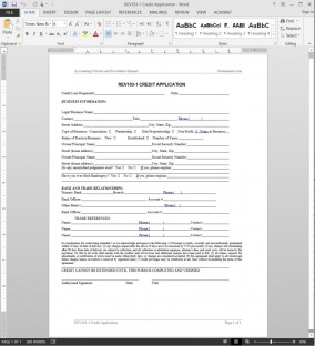 Credit Application Template REV103-1