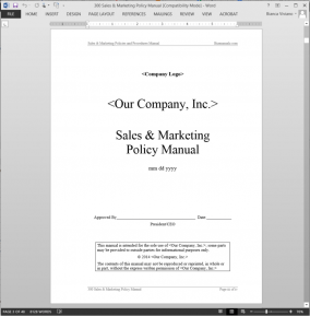 Sales & Marketing Policy Manual