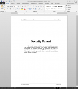 Security Manual
