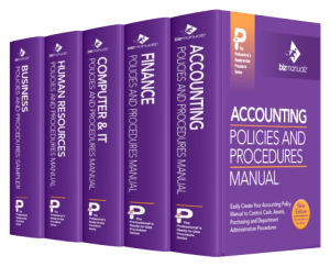 SOP Policies And Procedures Manual Templates Bizmanualz - Company property policy template