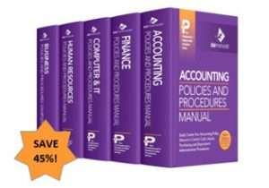 Financial Accounting Policy Procedure Manual Templates