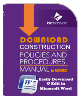 Construction Policy Procedure Manual Template