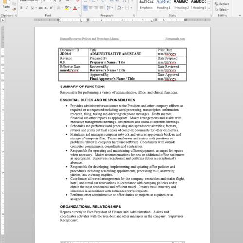 retail standard operating procedures manual