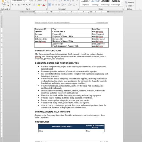 production maintenance job description